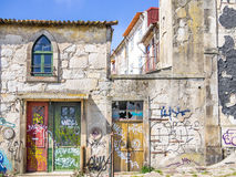 Old and rusty porto houses royalty free stock image