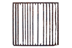 Old, rusty prison grating Stock Photo