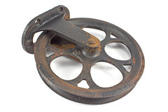 Old rusty pulley Royalty Free Stock Images