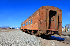 Old rusty Pullman train car Stock Image