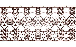 Old rusty railing, 3D rendering Royalty Free Stock Photography