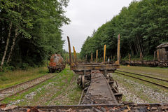 Old rusty railroad cars Royalty Free Stock Photography