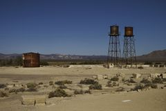 Rusty infrastructures in Death Valley Junction California Royalty Free Stock Images