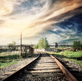 Old rusty railroad Stock Images