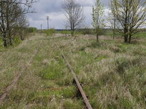 Old rusty railroad tracks Royalty Free Stock Image
