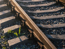 Old rusty railroad way. Stock Photo