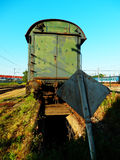 Old rusty railway coach Royalty Free Stock Image