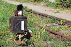 Old rusty railway switch Royalty Free Stock Photos