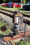 Old rusty railway switch Stock Photos
