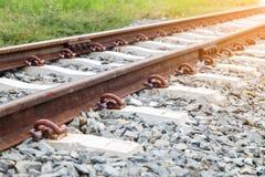 Old rusty railway track Stock Image