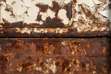 Old rusty railway wagon side Royalty Free Stock Images