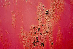 Old and rusty red metal Royalty Free Stock Photography