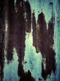 Old rusty red stripes on a zinc plate Stock Photo