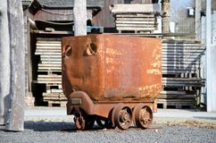 A old and rusty mining venture. An old, rusty and retired mining venture standing on an public place Royalty Free Stock Photos