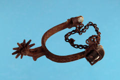 Old and rusty riding spur Royalty Free Stock Photos