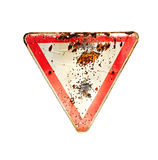Old rusty road sign Royalty Free Stock Image
