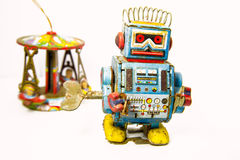 Old rusty on robot toy Royalty Free Stock Images