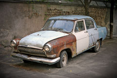 Old rusty Russian car Royalty Free Stock Photos