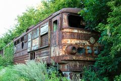 Old rusty Russian train. Stock Images