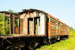 Old rusty Russian train. Stock Image
