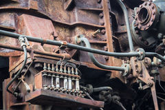 Old rusty rusted machine. rusted metal machinery detail. aged mechanic Stock Image