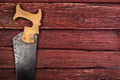 Old rusty saw Royalty Free Stock Photos