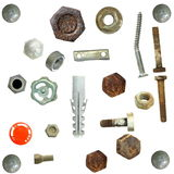 Old rusty heads, bolts, Royalty Free Stock Photo