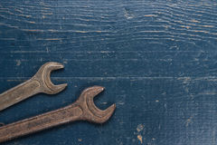 Old rusty screw keys Stock Image