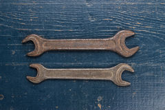 Old rusty screw keys Royalty Free Stock Photos