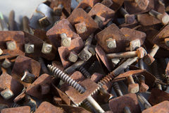 Old rusty screws Royalty Free Stock Photography