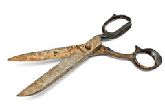 Old rusty sewing scissors Royalty Free Stock Images