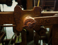 Old rusty and shackle of a mashine Royalty Free Stock Photography