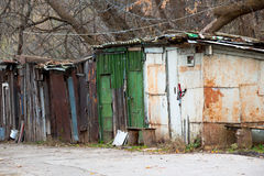 Old rusty sheds. In autumn Royalty Free Stock Photography