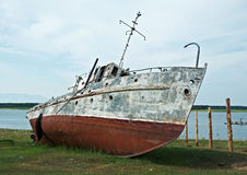 Old rusty ship Stock Images