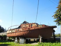 Old rusty ship, Lithuania Royalty Free Stock Photo