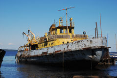 Old rusty ship in the port Stock Photography