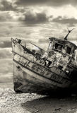 Old rusty ship. Yafo, Israel. Stock Photos