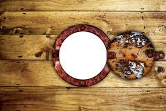 Old rusty ships porthole. Royalty Free Stock Photos