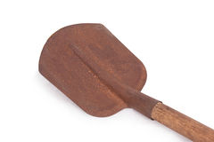 Old rusty shovel isolated Royalty Free Stock Photo