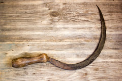 old rusty sickle στοκ φωτογραφία με δικαίωμα ελεύθερης χρήσης