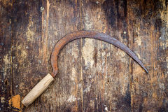 Old rusty sickle Royalty Free Stock Images