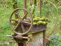 Old rusty sluice gate Royalty Free Stock Photography