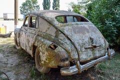 Old rusty Soviet car Victory. Rare exhibit Royalty Free Stock Photos
