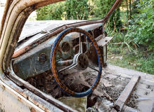 Old rusty Soviet car Victory. Rare exhibit Royalty Free Stock Image