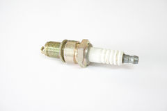 Old and rusty spark plug Stock Photo