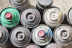 Old Rusty Spray Cans Royalty Free Stock Photos