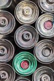 Old Rusty Spray Cans Stock Photos