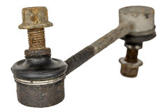 Old and rusty stabilizer link Royalty Free Stock Image
