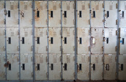 Old, rusty, stained lockers background Royalty Free Stock Image