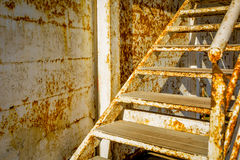 Old rusty stairs. Old rusty old stair up Royalty Free Stock Photography